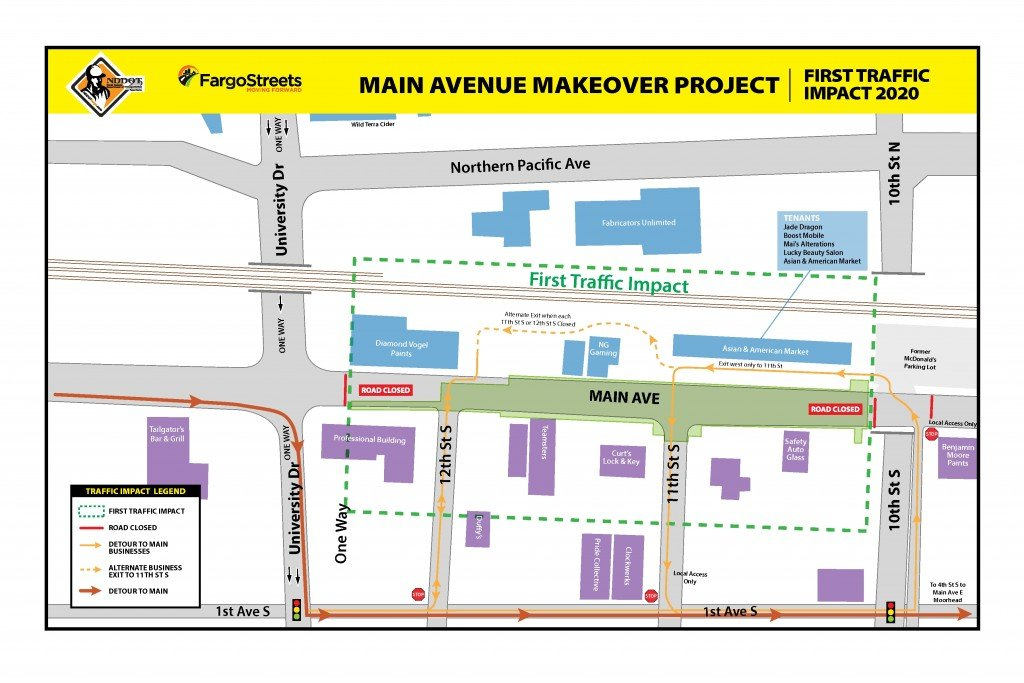 Main Avenue First Impact Map