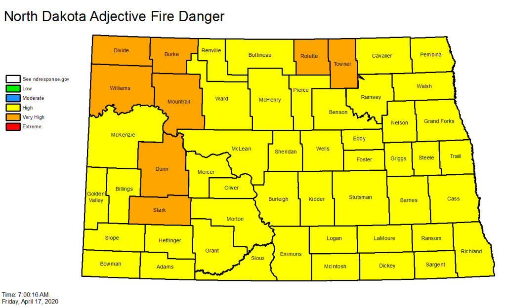 Nd Fire Danger Map
