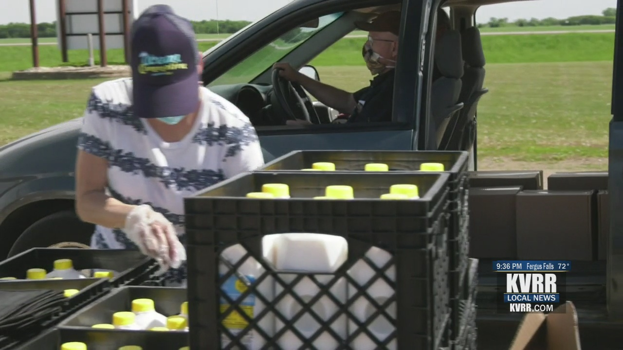 Great Plains Food Bank visits Christine with Mobile Food Pantry - KVRR Local News