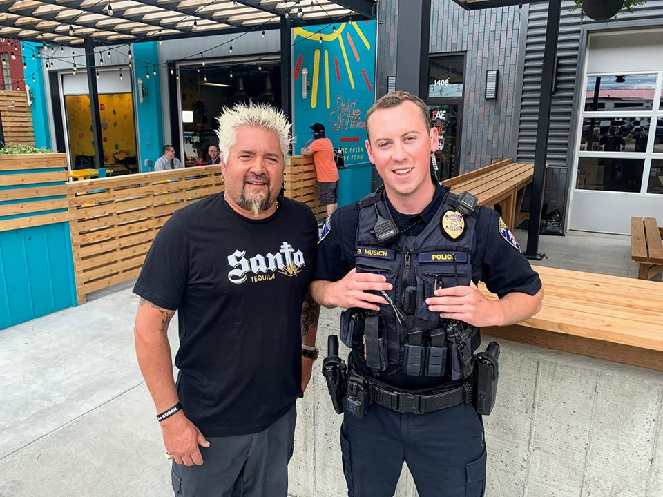 Guy Fieri With Mhd Officer