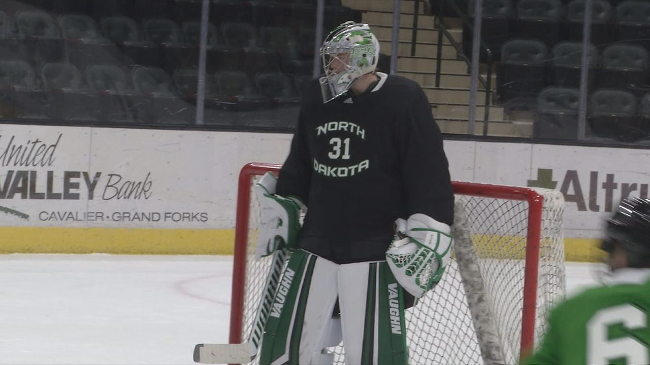 Scheel Continues Successful Season in Net for UND Hockey – KVRR Local News