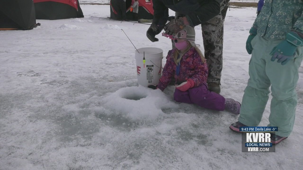 Youth test their luck at the annual Ice Fishing Derby