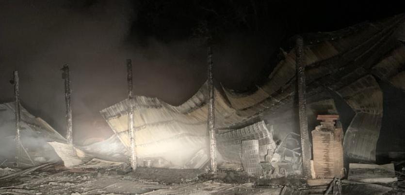 Barnesville Storage Building Fire 2 15 2021