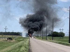 Jamestown TRUCK FIRE