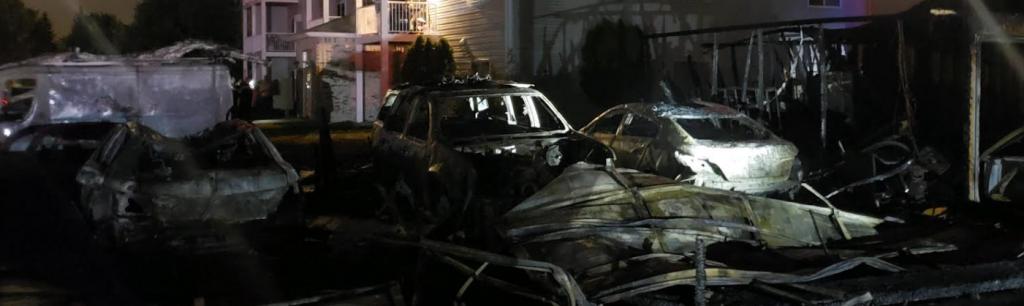 Oak Manor Garage Fire 2