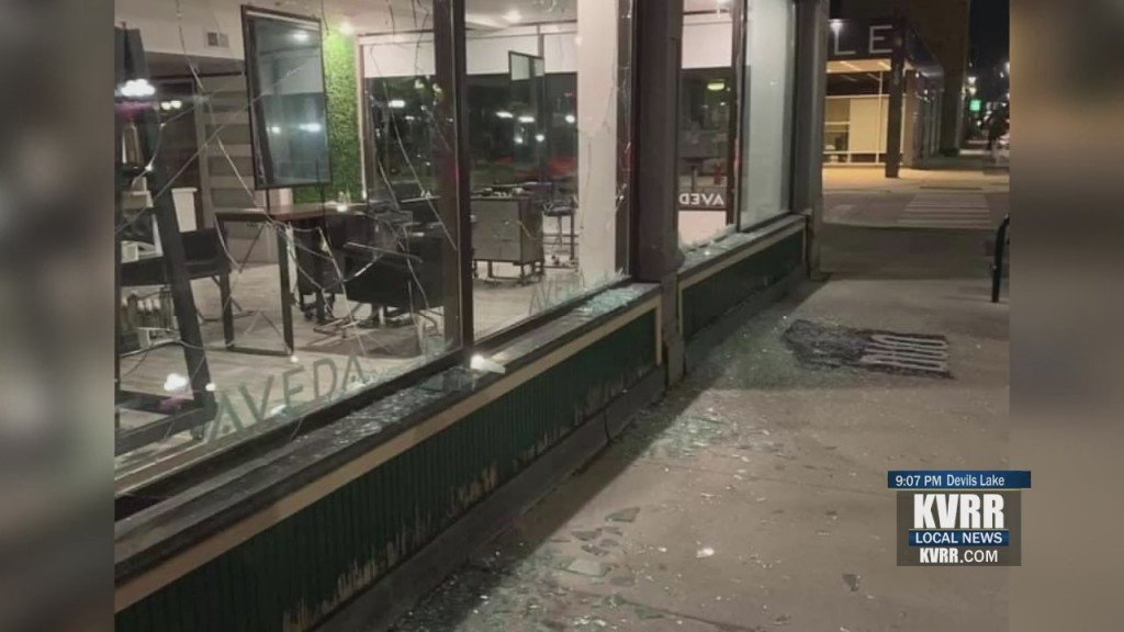 Downtown Windows Smashed
