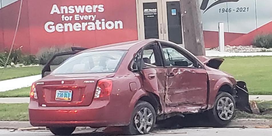 Fargo Downtown 1st Avenue Crash Car Wreck