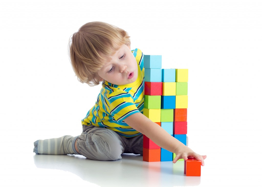 Boywithlearningblocks