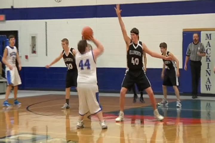 Elliott leads Mackinaw City boys basketball past Ellsworth
