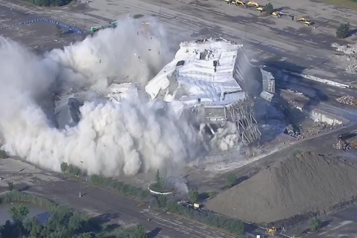Implosion of the Palace, former home of Detroit Pistons