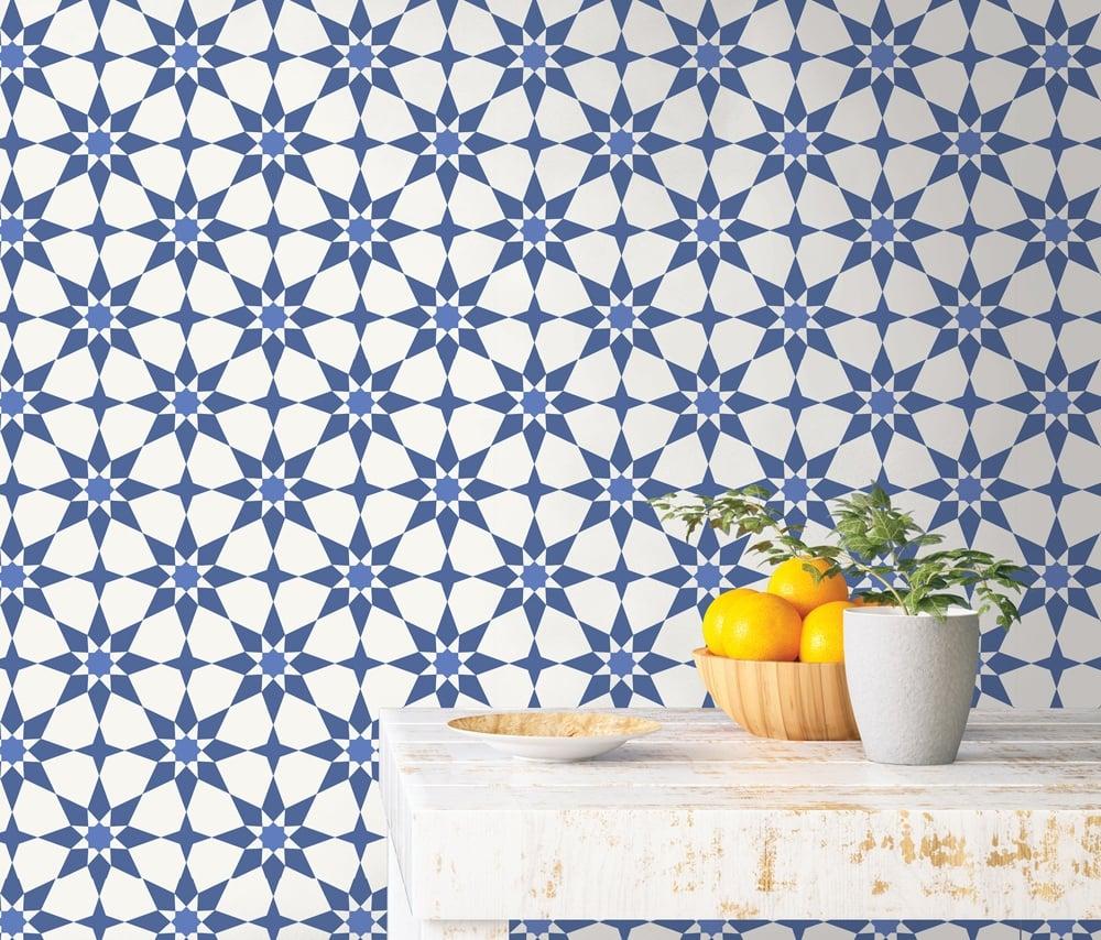 Tempaper Cabana Soleil Santorini Blue Online 14 (1)