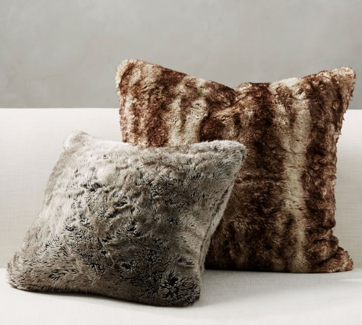 Faux Fur Pillows Pottery Barn