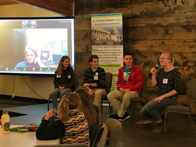 A group of high school students lead a roundtable discussion about environmental issues during the 6th Citizens' Climate Lobby North Wind Conference in Rapid City Saturday. Photo Date: Sep. 29, 2018.