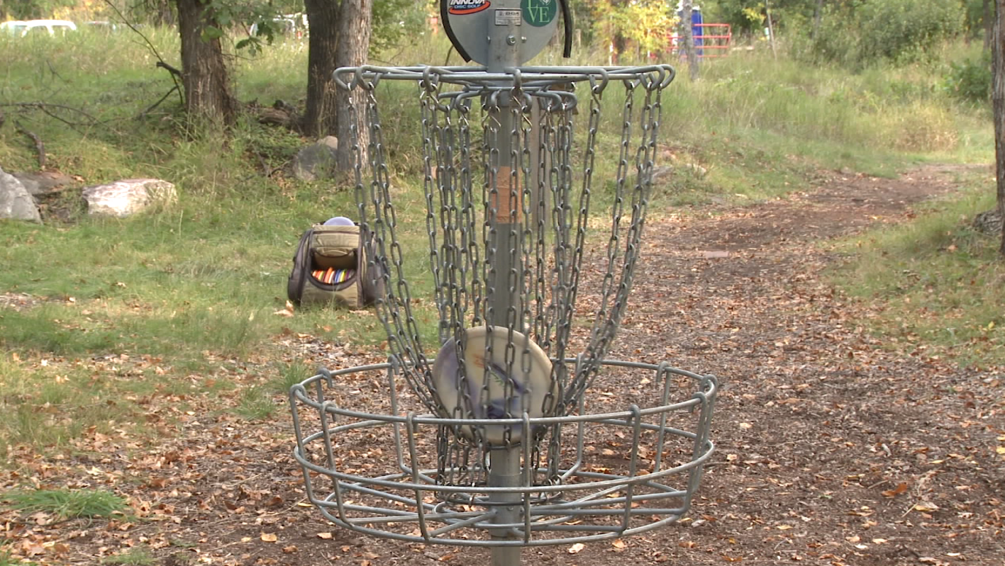 The sweet sound of a disc making it into a basket rings out at the Disc Golf Course in Spearfish Canyon during the first ever 'Crushmore Classic' on Sunday.