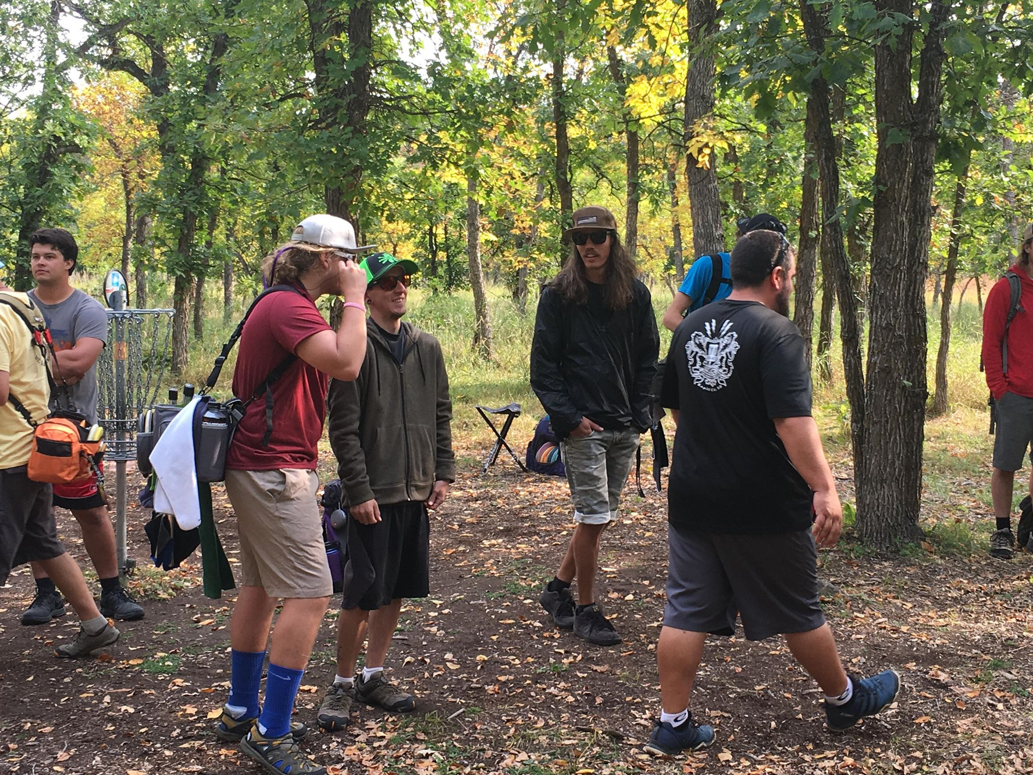 Participants gather in Spearfish Canyon for day 2 of the first ever 'Crushmore Classic' on Sept. 23, 2018.