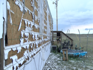 On July 28-29, severe weather passed through Pine Ridge, shattering the glass on cars and ripping the siding off of several houses.
