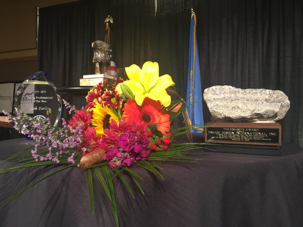 The George Award and the Granite Award were awarded to John Brockelsby and Hanai Shafai for their contributions to Rapid City.