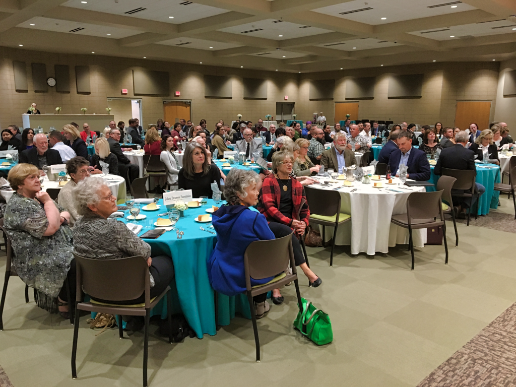 Business and industry leaders gathered at Western Dakota Tech Thursday for the first annual WDT Foundation Legacy Gala to raise money for student scholarships. Photo Date: Oct. 25, 2018.