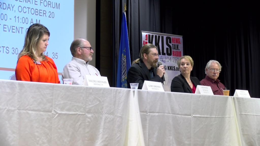 Candidates for the Pennington County Commission districts 1 and 5 take questions from the community on Oct. 13, 2018.