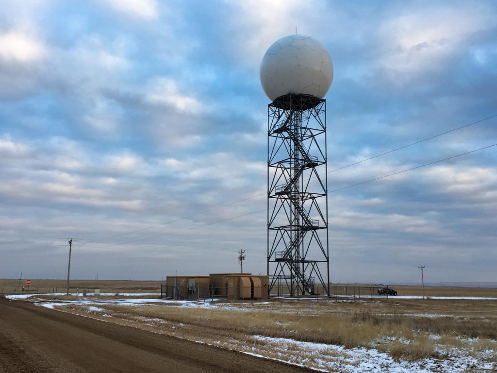 The Rapid City NWS radar, known as KUDX, will shut down this Tuesday for four weeks for maintenance work that will extend the life of the radar by up to 25 years. Photo Date: Nov. 25, 2018.