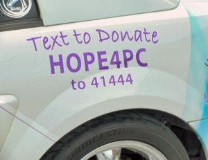 To support pancreatic cancer patients, visit npcf.us. Date of the photo: November 4, 2018.