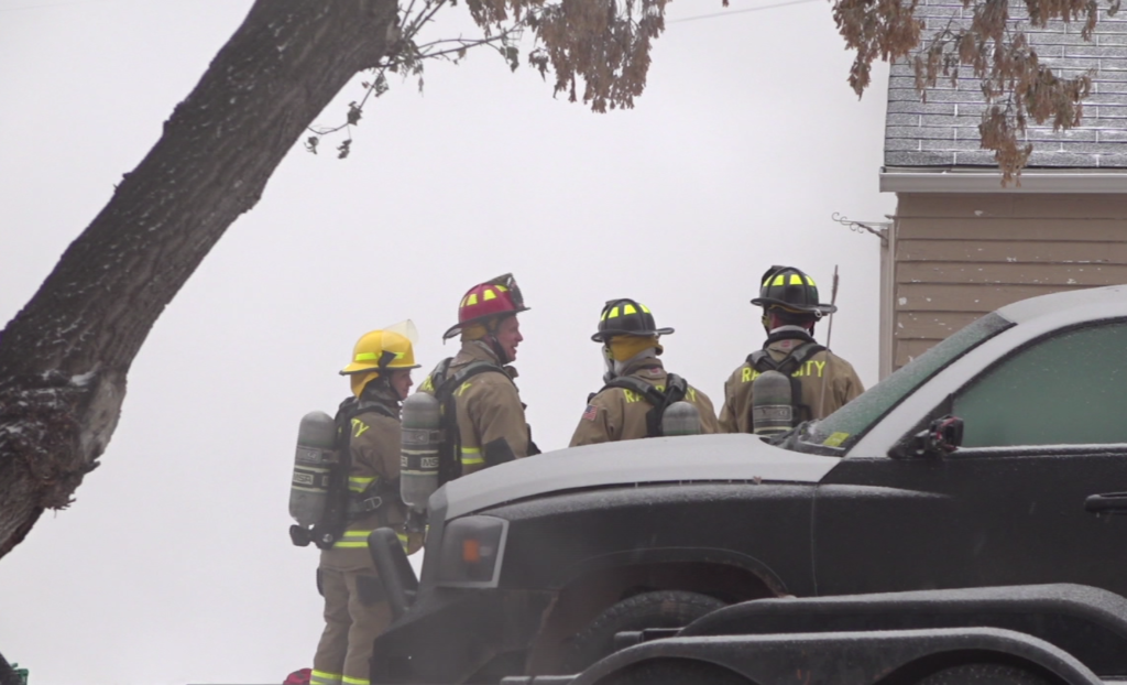 Two people are displaced after their house catches on fire on Nov. 17, 2018.