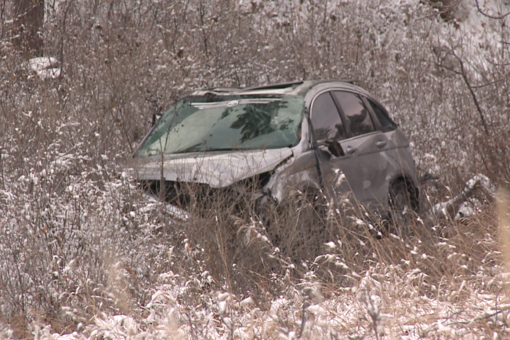 A car carrying three minors careens off of Skyline Drive in Rapid City.