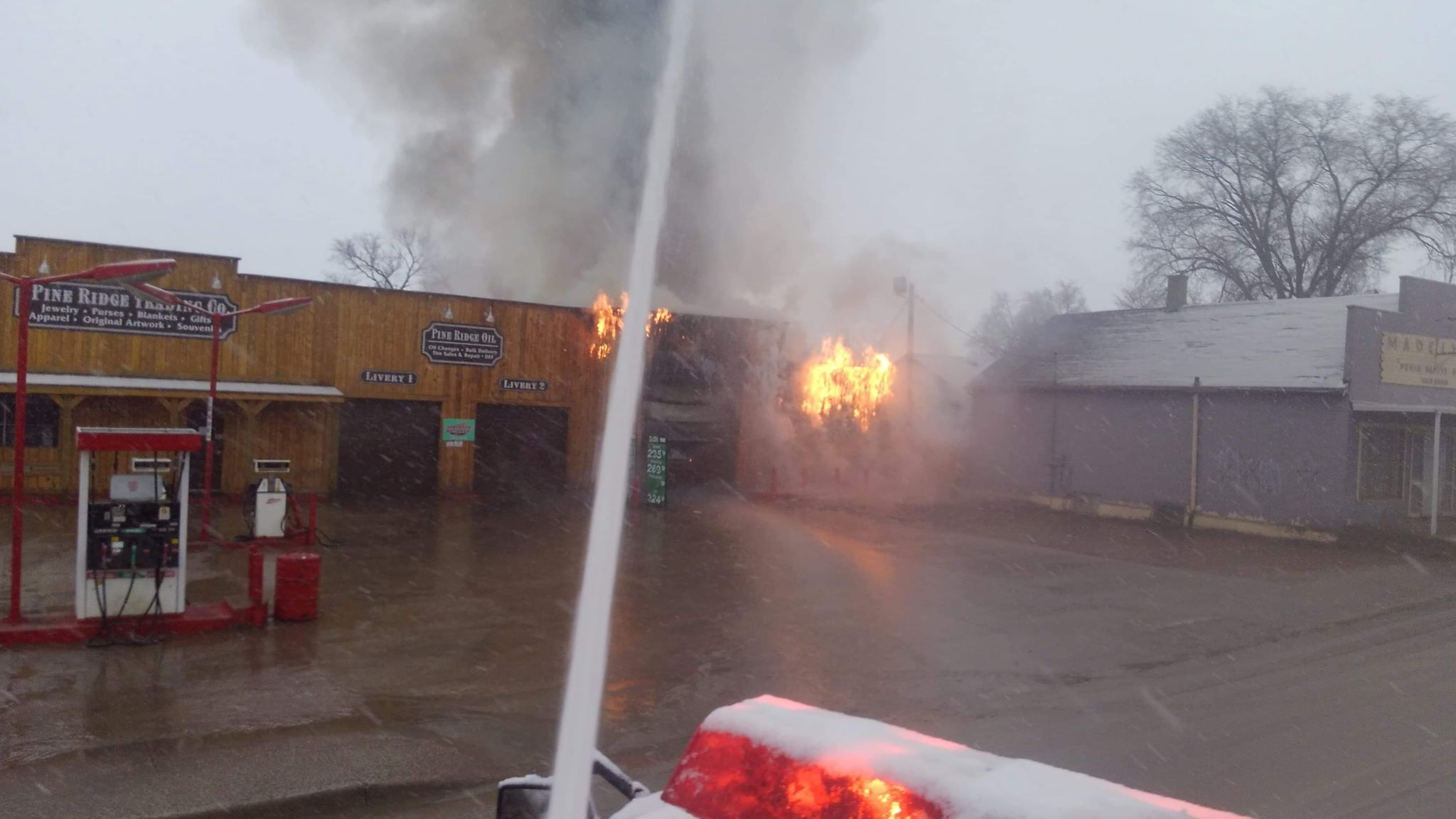 Fire breaks out at Pine Ridge Trading Co  - KNBN NewsCenter1