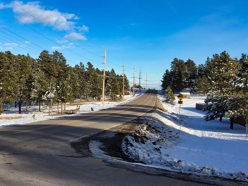 A part of Sheridan Lake Road south of Rapid City will get some safety improvements by 2021. Photo Date: Dec. 5, 2018.