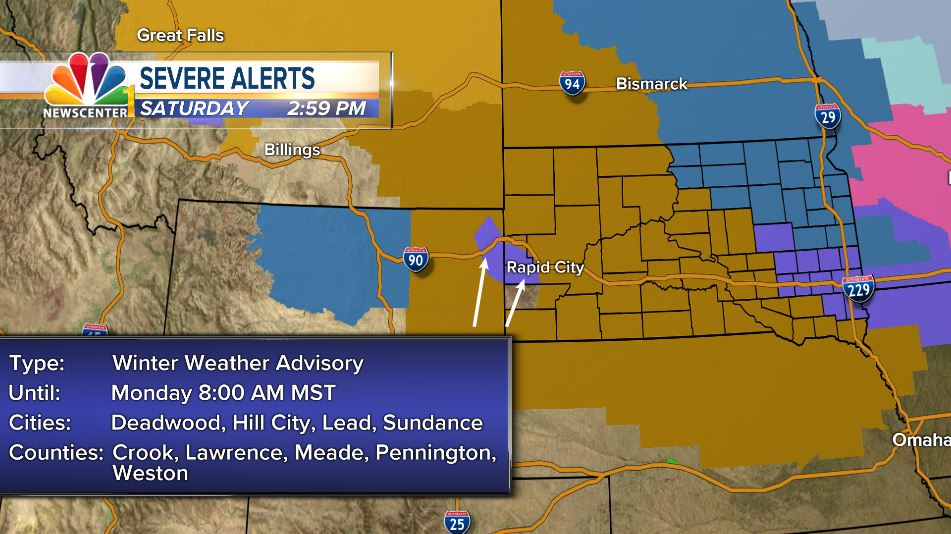 UPDATE: Watches and advisories expanded in western SD - KNBN NewsCenter1