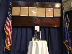 A remembrance table has been set up at the South Dakota Air and Space Museum. The table is in remembrance of fallen and missing servicemembers, and symbolizes the hope that they one day return home. Photo Date: Jan. 12, 2019.