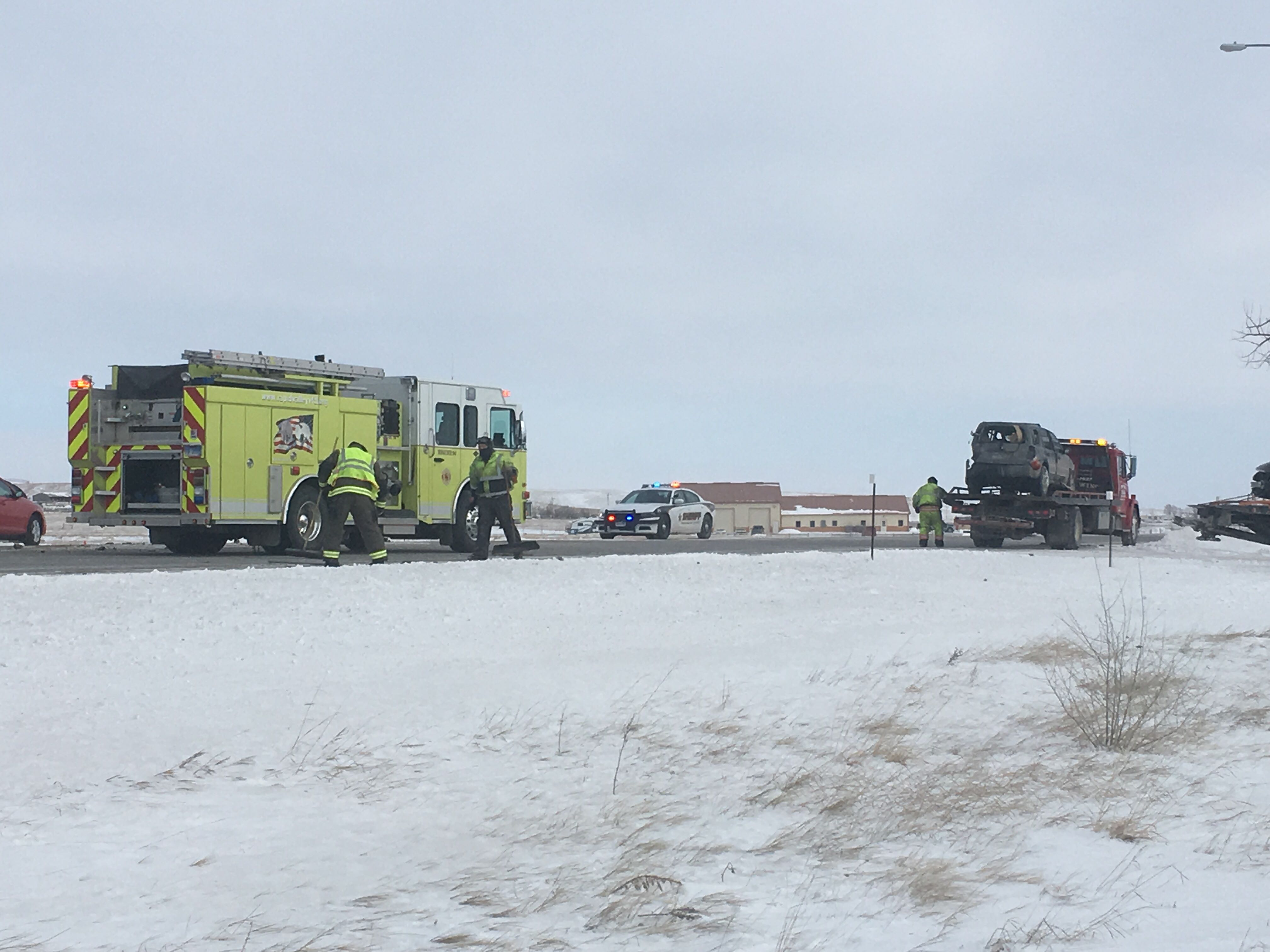 Seven people injured in four-car accident on Highway 44