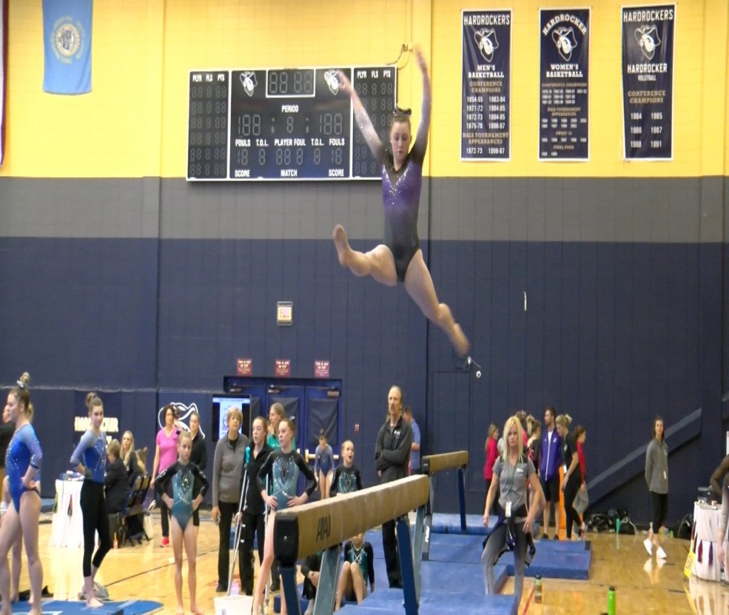 Kiara Brown from Just Jymnastics on the balance beam