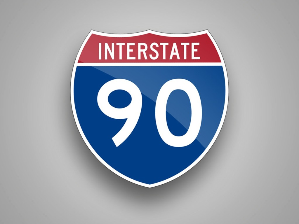 Sign of I-90