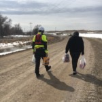 Rapid City water rescue team member helps deliver items to Pine Ridge residents in need