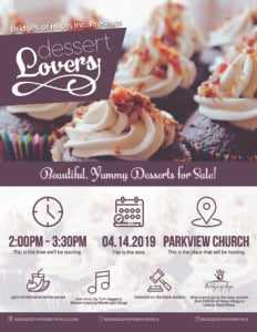 Dessert Lovers @ Parkview Church | Rapid City | South Dakota | United States