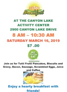 Saturday Morning Breakfast @ Canyon Lake Activity Center | Rapid City | South Dakota | United States
