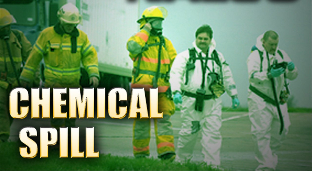 first responders deal with chemical spill