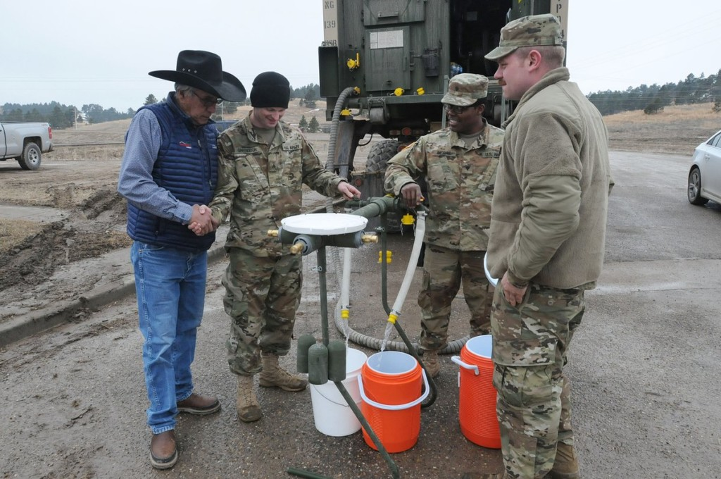 South Dakota National Guard members help deliver water to Pine Ridge residents