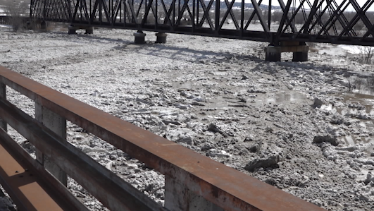 Ice jam on Missouri River near Pierre
