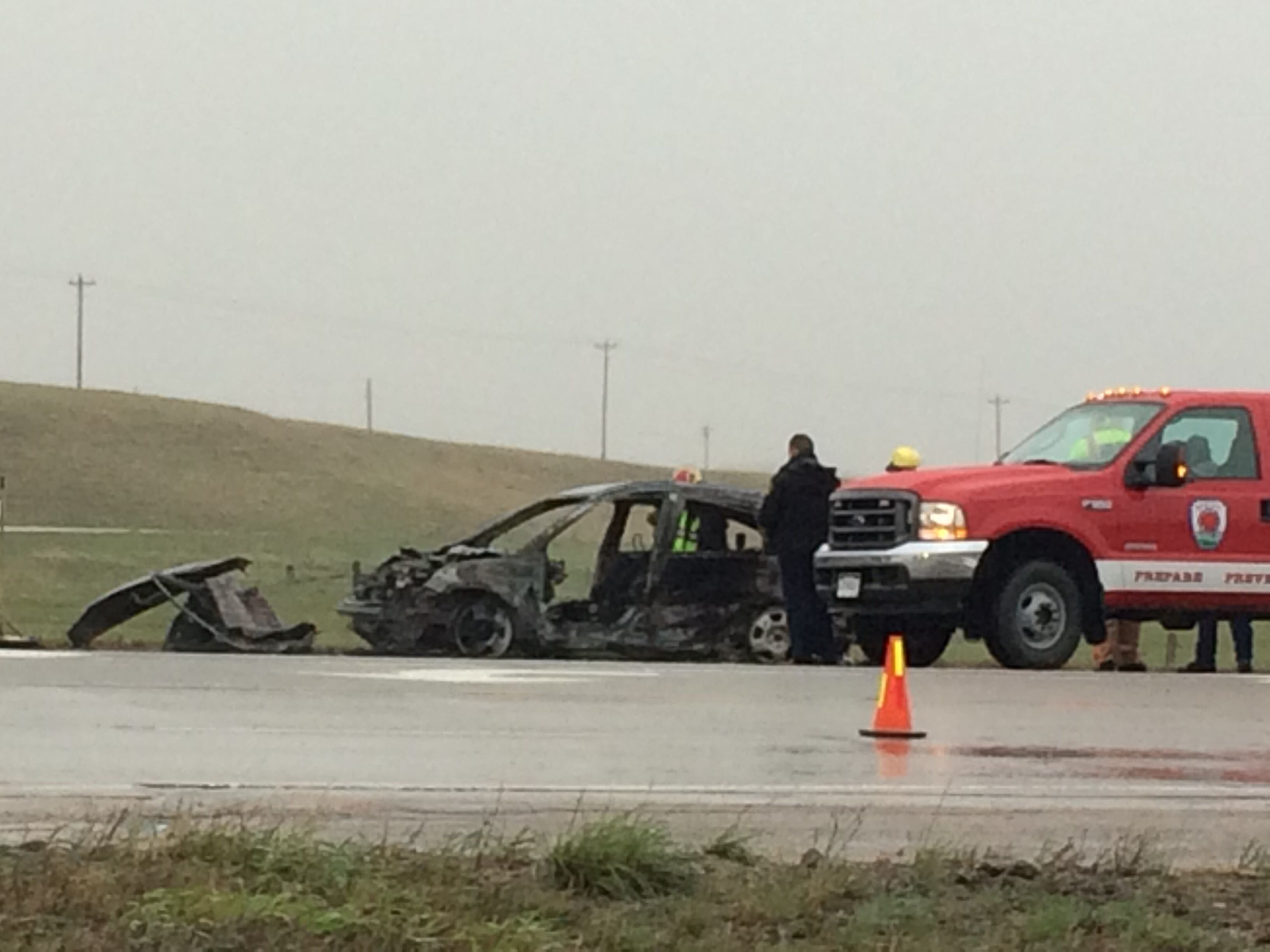 Authorities release details in fiery crash that happened south of