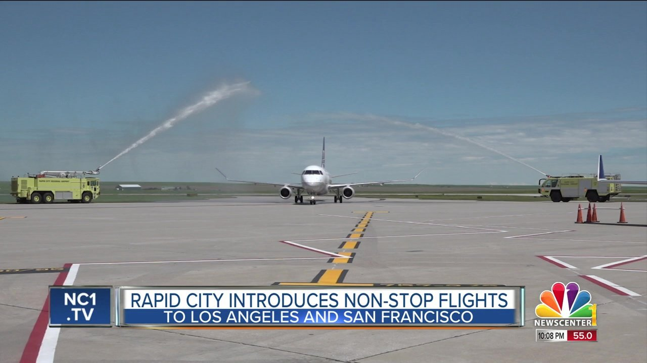 Rapid City Regional Airport Now Offering Non Stop Flights To Los Angeles San Francisco Knbn Newscenter1