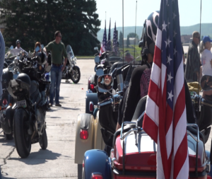 Riders gathered at Ellsworth AFB for the 19th annual Dakota Thunder Run, a ride through the Black Hills from the base to Sturgis.