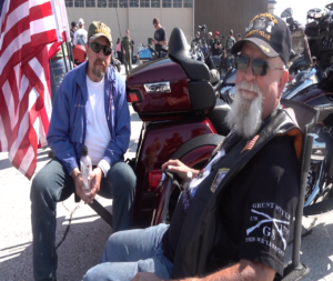 Veteran and active duty riders gathered at Ellsworth Air Force Base in preparation for the 19th annual Dakota Thunder Run.
