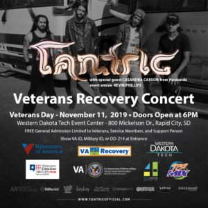 Veterans Recovery Concert Featuring Tantric with Special Guest Casandra Carson from Paralandra @ WDT Event Center | Rapid City | South Dakota | United States