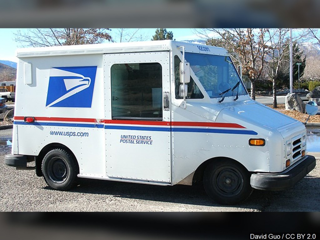 post office delivery truck