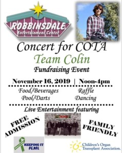 Concert for COTA Team Colin @ Robbinsdale Entertainment Center | Rapid City | South Dakota | United States