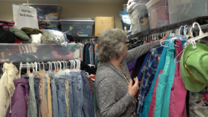 Anita at General Beadle Clothes Closet