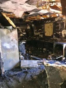 Inside house after fire, Picture Courtesy Jason McKee