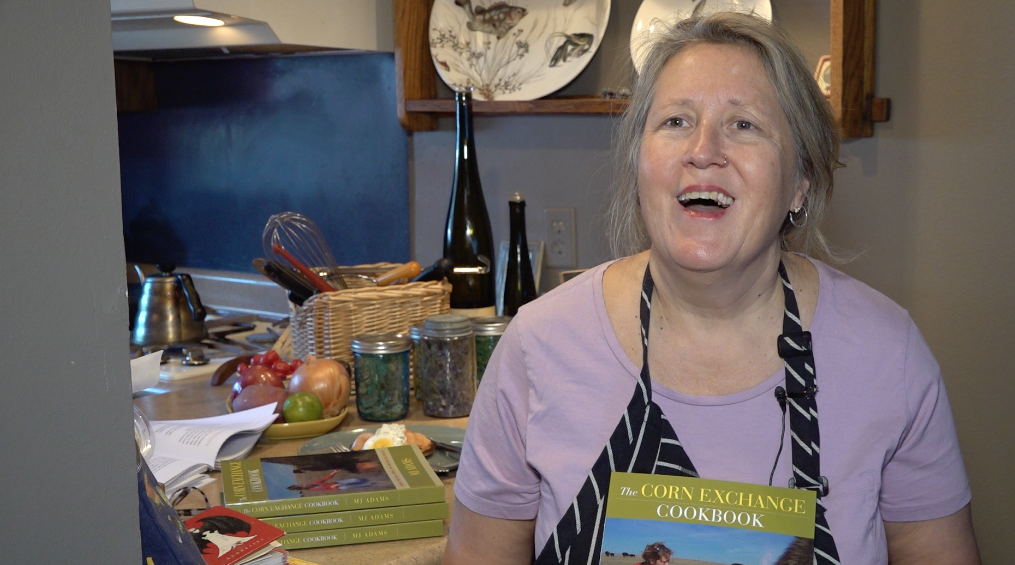 MJ Adams with Cookbook